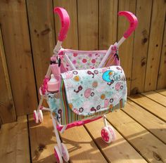 Baby doll diaper bag pattern / PDF / English pattern / by Evelune