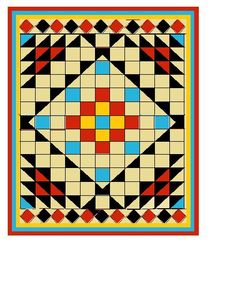 Aztec quilt... what if i made four of these andput them togehter... hmmmm