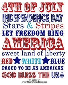 Free 4th of July Printable Download