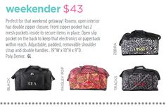 Perfect for that weekend getaway! Weekender. Page 51 http://initials-inc.com/  @initialsinc. #iispring