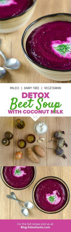 Cozy up to this this vibrant detox beet soup on a chilly night! Get the recipe h Detox Recipes, Paleo Recipes, Soup Recipes, Cooking Recipes, Recipes Dinner, Potato Recipes, Casserole Recipes, Crockpot Recipes, Chicken Recipes