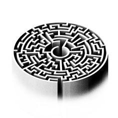 """A única saída deste labirinto é para dentro. Labyrinth Tattoo, Labyrinth Maze, Maze Drawing, Maze Design, Systems Art, Greek Mythology Art, Biomechanical Tattoo, Art Optical, Geometry Tattoo"