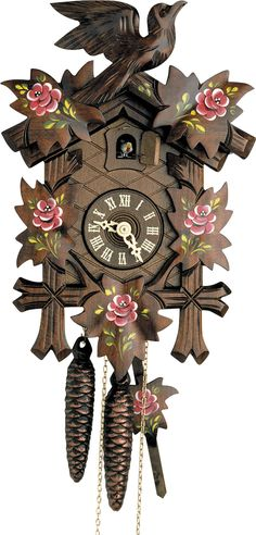 Lovely carved Cuckoo Clock from the Black Forest. Handmade and authentic.