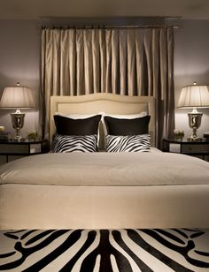 Love The Neutrals With The Large And Small Zebra Pattern.