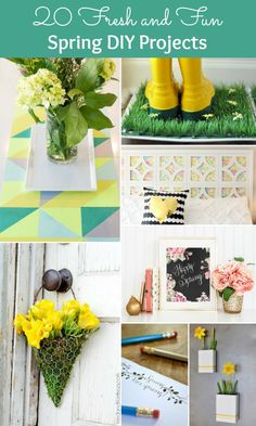 Celebrate the season with 20 fresh and fun spring DIY projects! | Hello Little Home #crafts #SpringCrafts