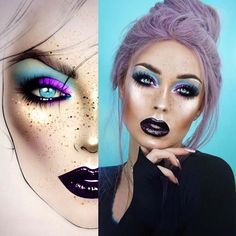 """9,216 Likes, 45 Comments - Sergey X (@milk1422) on Instagram: """"#artist@milk1422 #artist @maureennaudts Perfectly done makeup ✨✨ thank you so much…"""""""