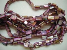 8-12MM Purple Mother Of Pearl Shell Beads, Abalone Nugget Beads, Craft Supplies # #