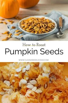 These Roasted Pumpkin Seeds are a healthy snack straight out of the oven, but also delicious on top of a salad or sprinkled over some pumpkin soup. Check out this easy recipe and video to see how it's done! #pumpkinseeds #howto #kitchentips #healthysnacking Roasted Pumpkin Seeds, Roast Pumpkin, Pumpkin Soup, Homemade Pumpkin Puree, Pumpkin Recipes, Fall Recipes, Vegetarian Recipes, Snack Recipes, Healthy Recipes