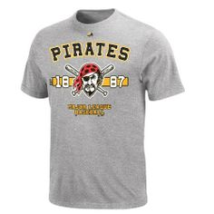 MLB Youth Pittsburgh Pirates Steel Heather Short Sleeve Basic Tee By Majestic Majestic. $9.15