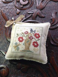 Hand stitched May Basket pin cushion/ bowl by TheOldNeedleShop