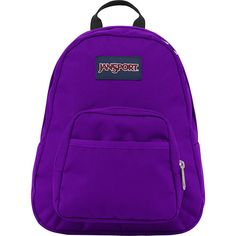 "JanSport Half Pint Mini Backpack - 12.3"" - Signature Purple - School... ($25) ❤ liked on Polyvore featuring bags, backpacks, purple, utility backpack, lightweight daypack, jansport, polyester backpack and jansport backpack"