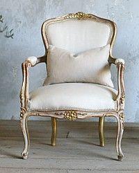 1940's Shabby Gilt Louis XV French Style Armchair