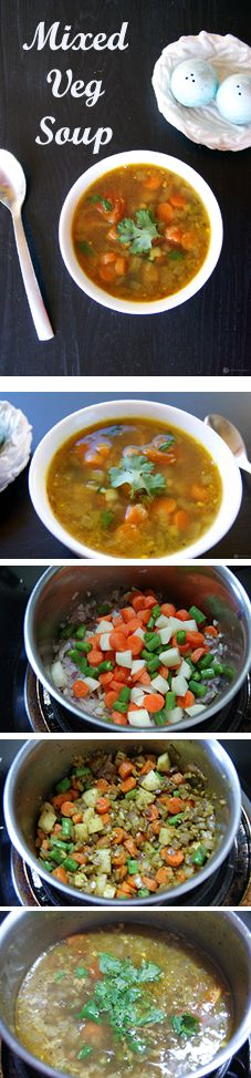 An easy to make and healthy Homemade Indian style Mixed vegetable soup. Uses all fresh ingredients and so good for your tummy.