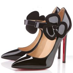 Christian Louboutin Shoes Pensee 120mm Patent Leather Pumps Black