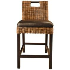Boston Havana Bicast Leather Rattan 30 High Bar Stool Style # J9916 Write a Review Sit in style on this bicast leather covered bar stool from the Boston Collection. $340.91