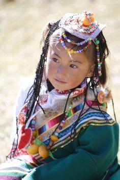 Tibetan girl in Shangri-la