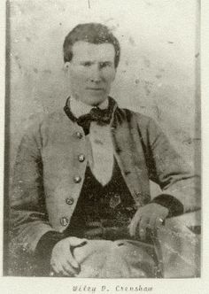 Wiley David Crenshaw (1833-1854), Company F, 47th Alabama infantry, died in the battle at Wilderness, VA, May 6, 1864