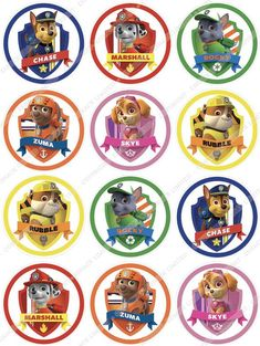 Details about Paw Patrol Edible Wafer Cup Cake Toppers Standing or Disc in 2020 Paw Patrol Cupcake Toppers, Paw Patrol Cupcakes, Paw Patrol Birthday Cake, Paw Patrol Cake, Paw Patrol Party, 4th Birthday Parties, 3rd Birthday, Imprimibles Paw Patrol, Sky Paw Patrol
