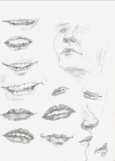 How to Draw Lips | Quick mouth study ~ How to draw mouth, lips and teeth