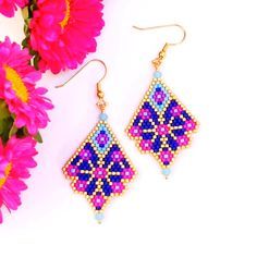 Bead Embroidery Jewelry For You or Someone You Love by SplendidBeadsBklyn Seed Bead Art, Seed Bead Jewelry, Seed Bead Earrings, Seed Beads, Beaded Earrings Patterns, Beading Patterns Free, Seed Bead Patterns, Diy Accessories, Loom Beading