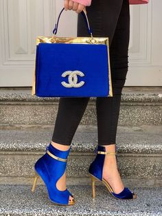 Gucci Handbags Outlet, Chanel Handbags, High Heels, Shoes Heels, Stiletto Heels, Blue Heels, Louboutin Shoes, Red Shoes, Sneakers Fashion