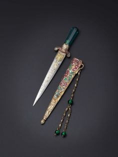mildlyamused: Dagger owned by Princess Adile Sultana (1825-1898) The frilly pink-ness of this murder weapon appeals to my soul.