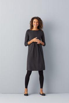 Pleats and patterns (featuring J.Jill's Wearever Center-Pleat Dress).