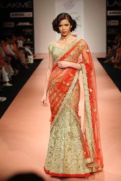 Bridal Lehenga by  Bhairavi Jaikishan  Summer 2012.