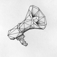 Megaphone diddy #art #illustration #geometric #stipple #dotwork #megaphone