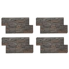 GenStone Stacked Stone 24 in. x 42 in. Kenai Faux Stone Siding Panel Grey Base With Charcoal Copper Highlights Stone Siding Panels, Faux Stone Siding, Stone Veneer Panels, Faux Brick, Stacked Stone Panels, Faux Stone Panels, Faux Stone Veneer, Dry Stack Stone, Brick Paneling
