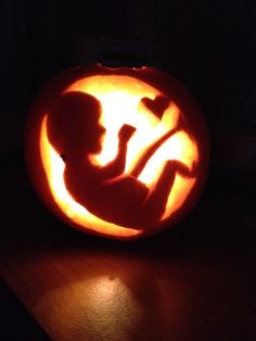 Baby pumpkin carving to celebrate my pregnancy