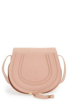 This soft pink Chloé crossbody is on the wish list!