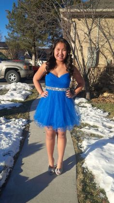 We have this in size 3 and size 11. Royal blue short dress. Dazzling dress rentals Utah! Located in riverton, Utah. Call/text 8019797467 or 8018084656 we have 3,000 semi formal and formal prom sweethearts homecoming ball wedding and party dresses! All lengths sizes colors and styles. Lots of modest options! (Ways to make cute dresses modest) and all out alterations are FREE!!! Find us on Facebook! Search Dazzling Dress Rentals or follow us on insta @dazzlingdressrentalsutah