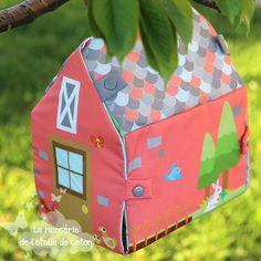 Tuto gratuit maisons à coudre - La Mercerie de L'Etoile de Coton
