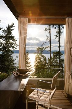 Dwelling on the rocky shores of Flathead Lake: Stone Creek Camp