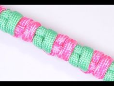 "How to Make the ""Building Blocks"" Design Paracord Survival Bracelet - Bored?Paracord! - YouTube"