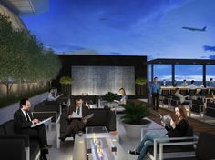 STAR ALLIANCE LOUNGE Los Angeles International Airport  Opening this summer, the revamped Star Alliance lounge at LAX takes its inspiration from Southern California's mid-century modern tradition. The lounge's outdoor space includes a cozy fireplace