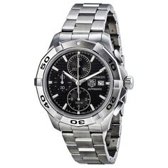 Tag Heuer Aquaracer Automatic Black Dial Chronograph Mens Watch CAP2110.BA0833 (bestseller)