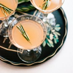 Winter Cocktail, with vodka or gin, grapefruit juice, rosemary, honey