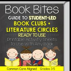 """Common Core Aligned Book Clubs [Ready-to-Print]: This starter kit includes EVERYTHING you need to begin using Book Clubs (the """"new"""" Literature Circles"""") in your classroom! Use this packet to set-up Book Clubs AND assess the students' comprehension of the texts they read.   The Common Core aligned reading responses in this packet can be used with ANY book! Sheets can be printed individually or organized in a booklet (instructions included)."""