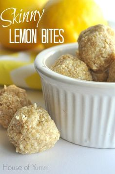 These no bake Skinny lemon cookie dough bites are gluten free, vegan, and ready in 5 minutes!