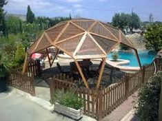 10 Best Pergola Designs, Ideas and Pictures of Pergolas – Top Soop Outdoor Spaces, Outdoor Living, Yurt Home, Geodesic Dome Homes, Dome Greenhouse, Casa Patio, Gazebo Pergola, Bamboo House, Dome House