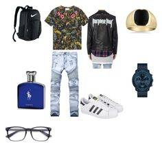 """Untitled #26"" by devyn-mills on Polyvore featuring Gucci, adidas, Movado, NIKE, Ralph Lauren, men's fashion and menswear"
