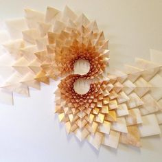 The Way This Engineer Turns Simple Sheets Of Paper Into Geometric Art Is Amazingly Satisfying 30 Pics Bored Panda 3d Art Projects, Sculpture Projects, Geometric Sculpture, Geometric Art, Origami Installation, Installation Architecture, Photo Panda, Paper Wall Art, A Level Art