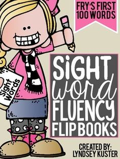 Too often children memorize sight words (flash card style), but then have difficulty reading sight words within a text. These sight word fluency flip books are an engaging and interactive way to practice learning sight words using both strategies!Each flip book focuses on a different sight word from Frys First 100 Word List.