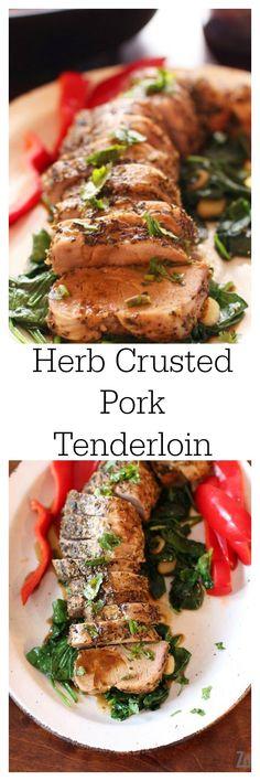 herb crusted pork tenderloin tender and juicy herb crusted pork ...