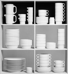 The goal of Hochschule für Gestaltung Ulm (HfG) – the Ulm School of Design – was to train designers for a new mass culture.  File under: crockery