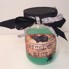 4 SALE AT http://stores.ebay.com/tovascollectibles HALLOWEEN DECORATIONS PICKLED MICE APOTHECARY JAR HAUNTED HOUSE DECOR HALLOWEEN PARTY CREEPY SCARY ART KIDS FUN CRAFTS CUTE WITCH EVIL GORY HOME DECOR