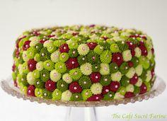 California Avocado Cake w/ Raspberry Filling & Key Lime Buttercream Frosting