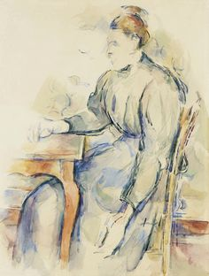 Paul Cézanne (1839-1906) |  Femme Assise (Madame Cézanne), 1902-1904